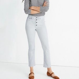 Madewell Jeans Cali Boot grey corduroy size 27P